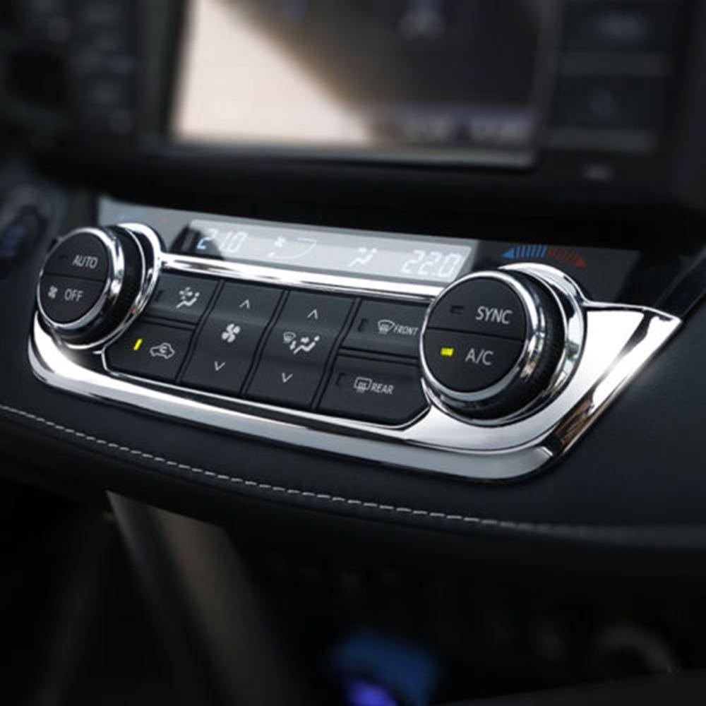 Carbon Fiber Inner Console Ac Button Panel Cover Trim For Toyota RAV4 2016-2018