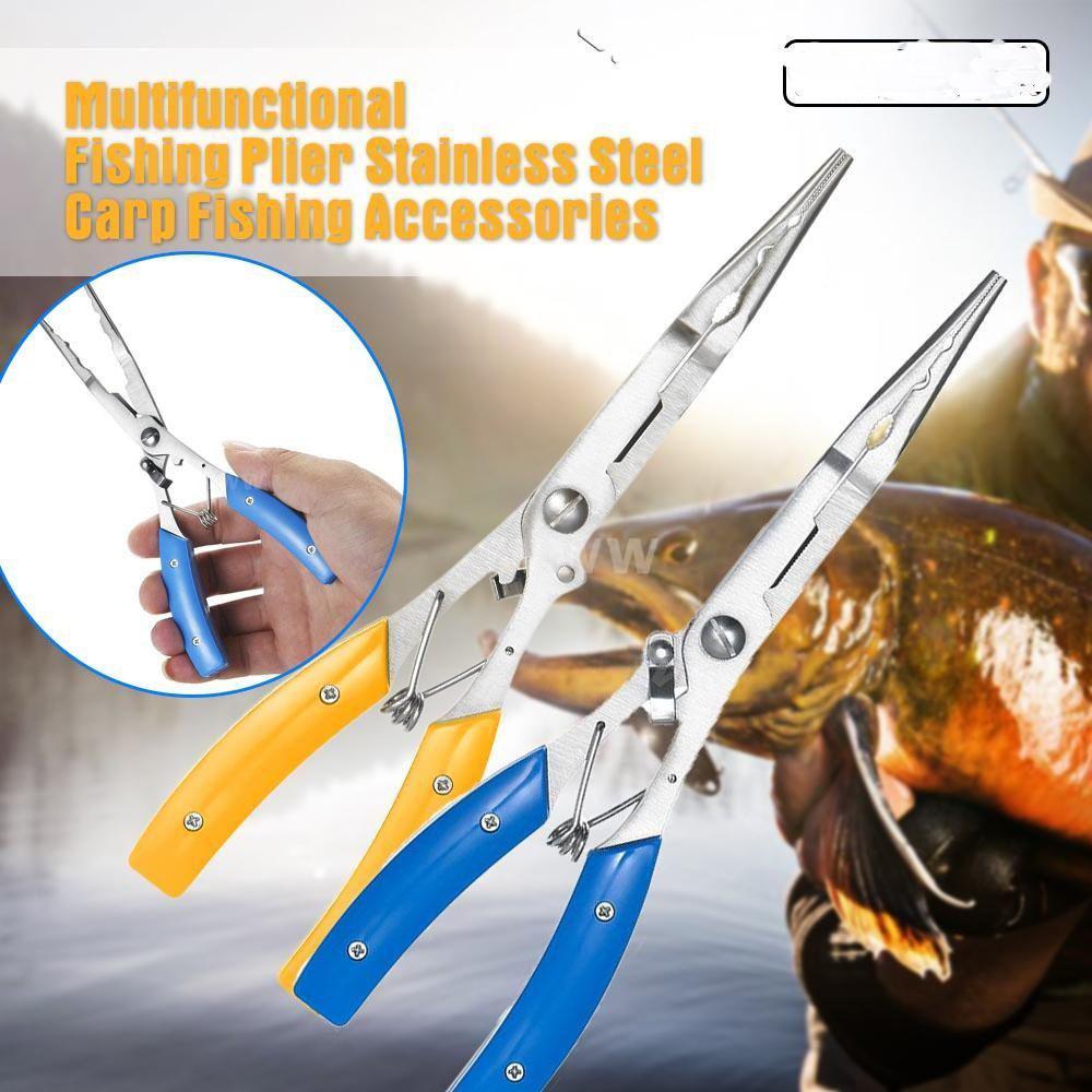 Carp Stainless Steel Scissor Hook Removers Bait Line Cutter Fishing Pliers