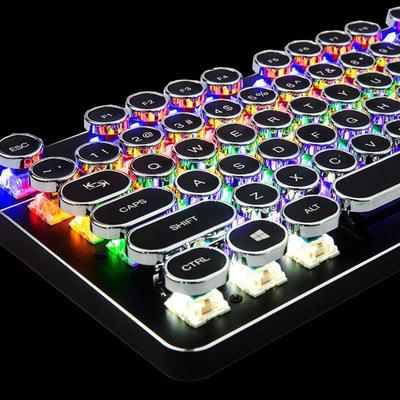 Steampunk Mechanical Typewriter Keyboard with Multicolor