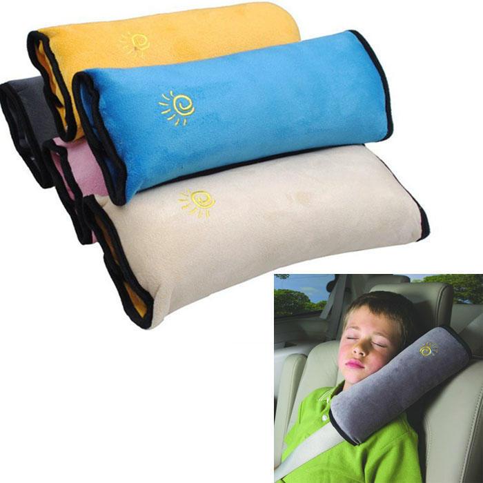 Panda Blue Universal Baby Children Car Safety Seat Belt Pillow Strap Soft Shoulder Pad Headrest Auto Car Cushion Support Children Protect