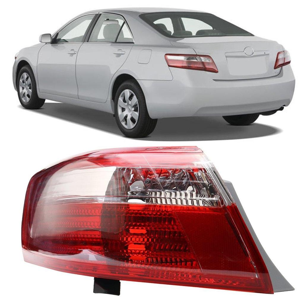 NEW 2007-2009 FITS TOYOTA CAMRY LEFT TAIL LIGHT LENS AND HOUSING TO2818131