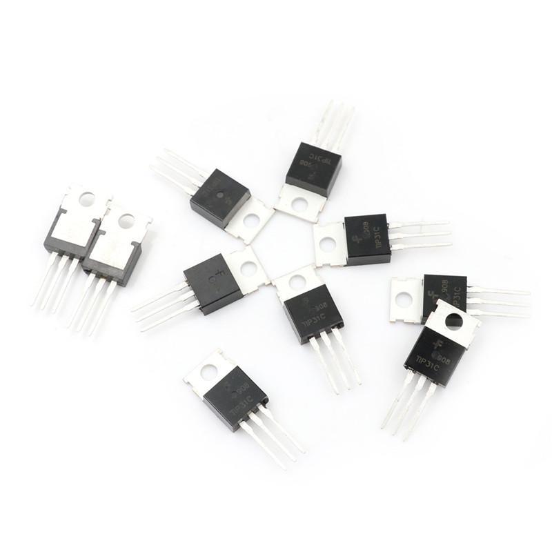 10 pcs TIP31C TIP31 NPN Transistor 3A 100V New TO-220