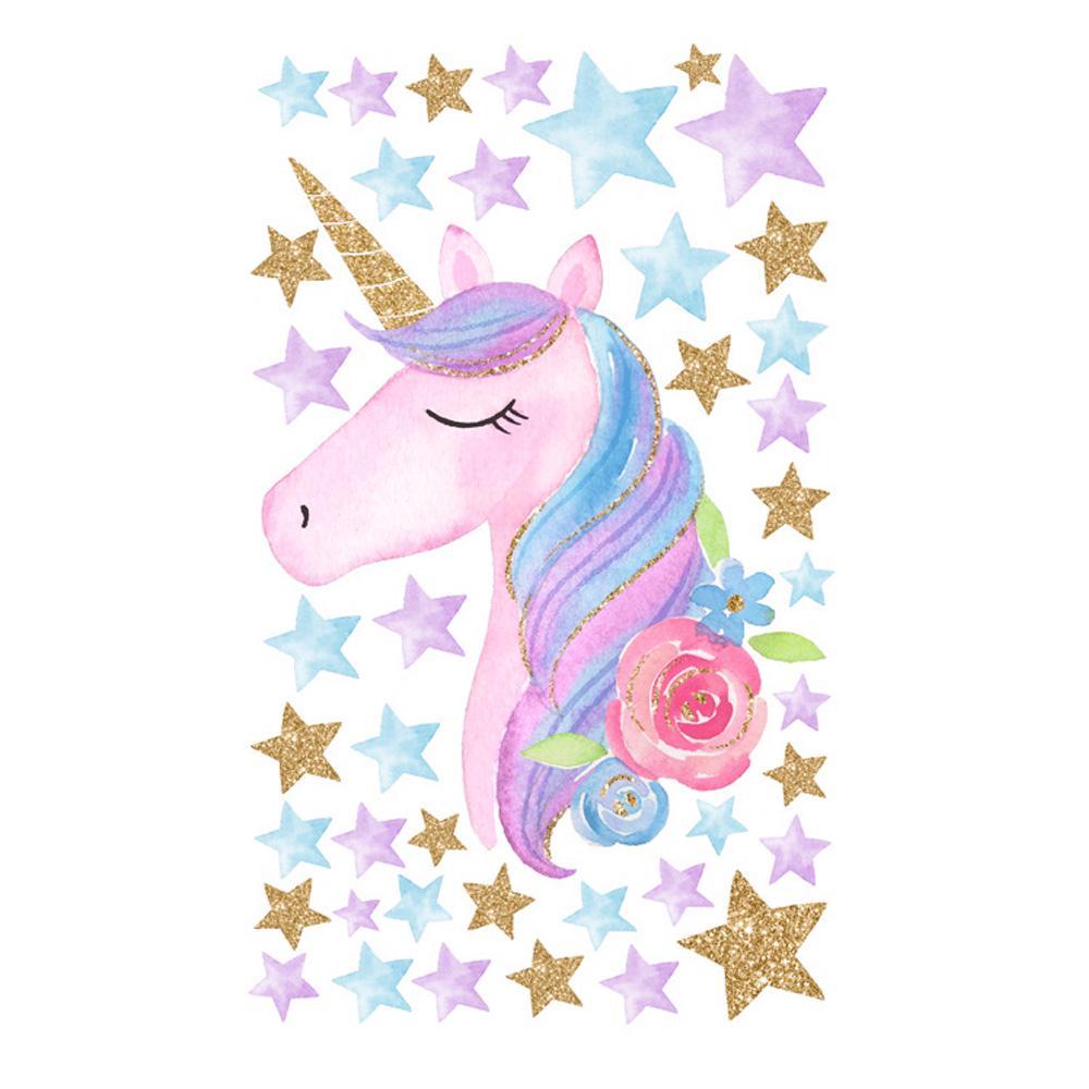 Rainbow Colorat Unicorn Inimile Stele Perete Autocolant Fete Dormitor Perete Decal Art Decor