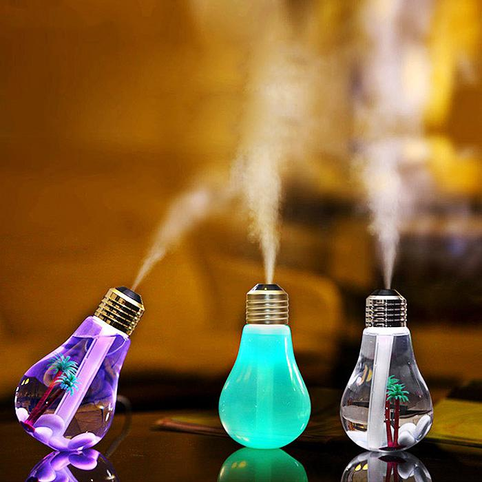 Humidifiers Fashion Style Brelong Usb 7colors Changes 400ml Ultrasonic Humidifier Lamp Air Purifier Led Night Light Aroma Diffuser Aromatherapy Mist Maker