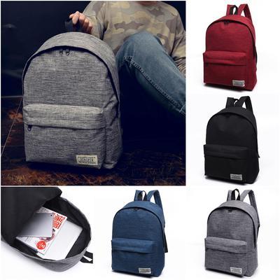69e804c1cb1b Large Men Women Travel Shoulder Purse Satchel Tote Backpack Schoolbag Book  Bag