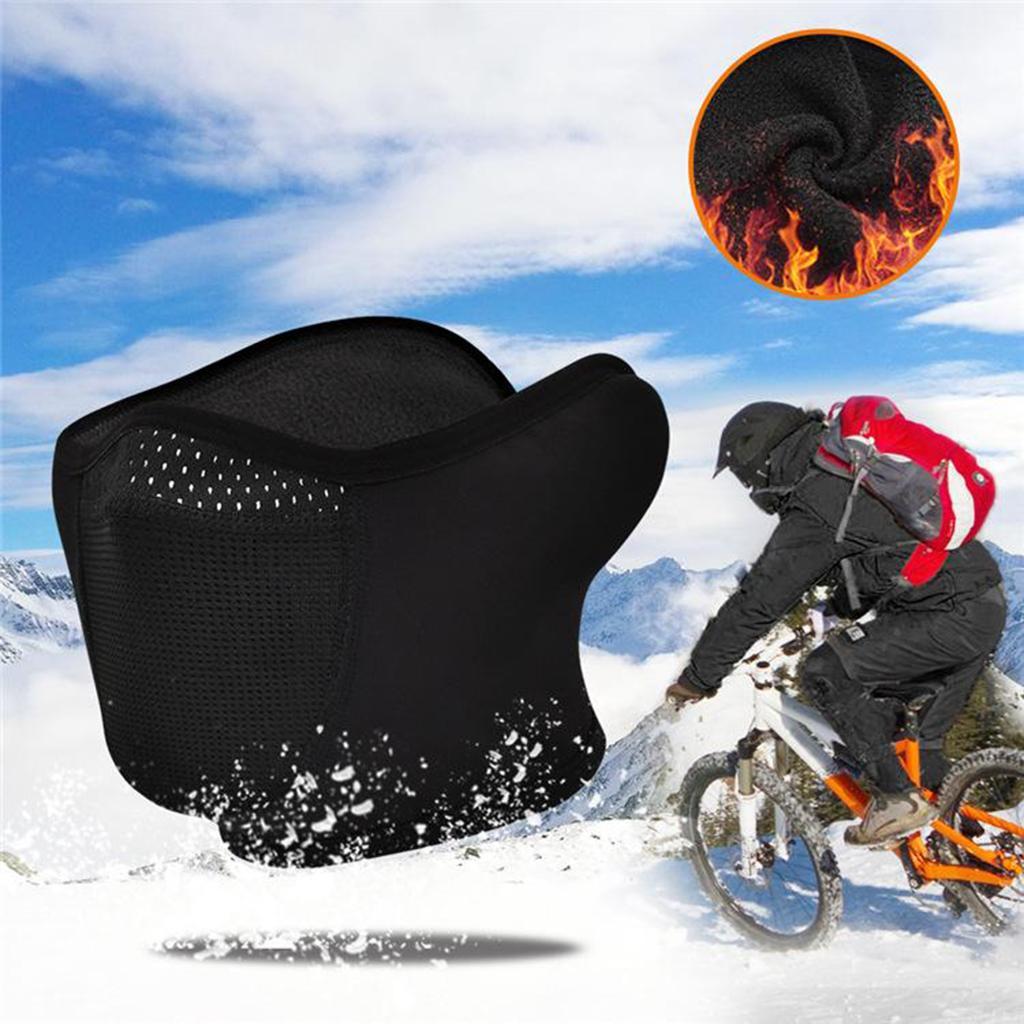 Motorcycle Cycling Ski Fleece Face shield Cold Weather Thermal Fleece Ear Warmer