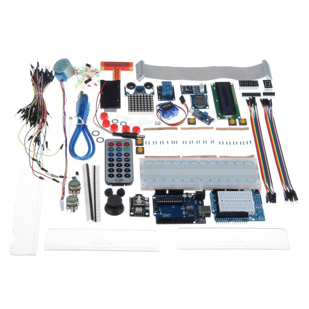 Uno R3 Starter Kit For Arduino 1602lcd Servo Ultrasonic Motor Led Converter Circuit Board Pcb Sensor Buy 1 Of 11