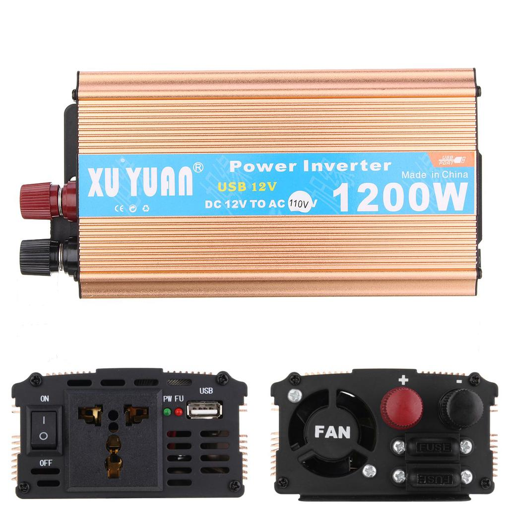 Car Inverter 1200w Dc 12v To Ac 110v 60hz Power Inverters Charger 2000w Waterproof Battery Charging Circuit Board For 2 Of 12