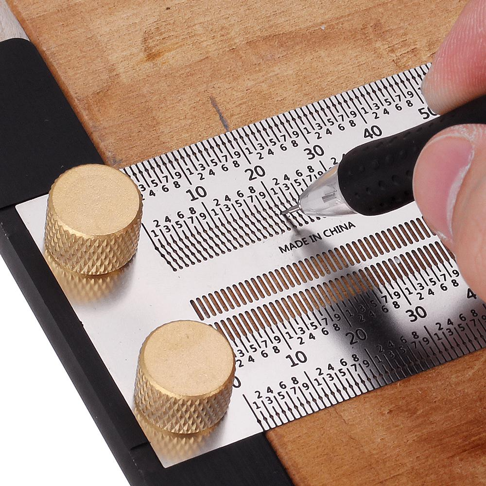 Stainless Steel Sticky Ruler Marking Tool Woodworking High Precision Positioning