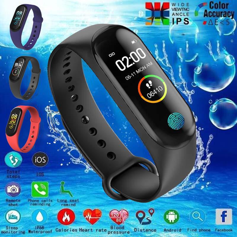 M4 Bluetooth Smart Bracelet Фитнес-трекер Цвет экрана кровяного давления Монитор сердечного содействия Wristband