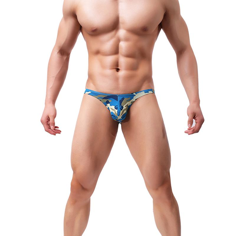 Men/'s Mesh Underwear Brief Open Thong Jockstrap Blue