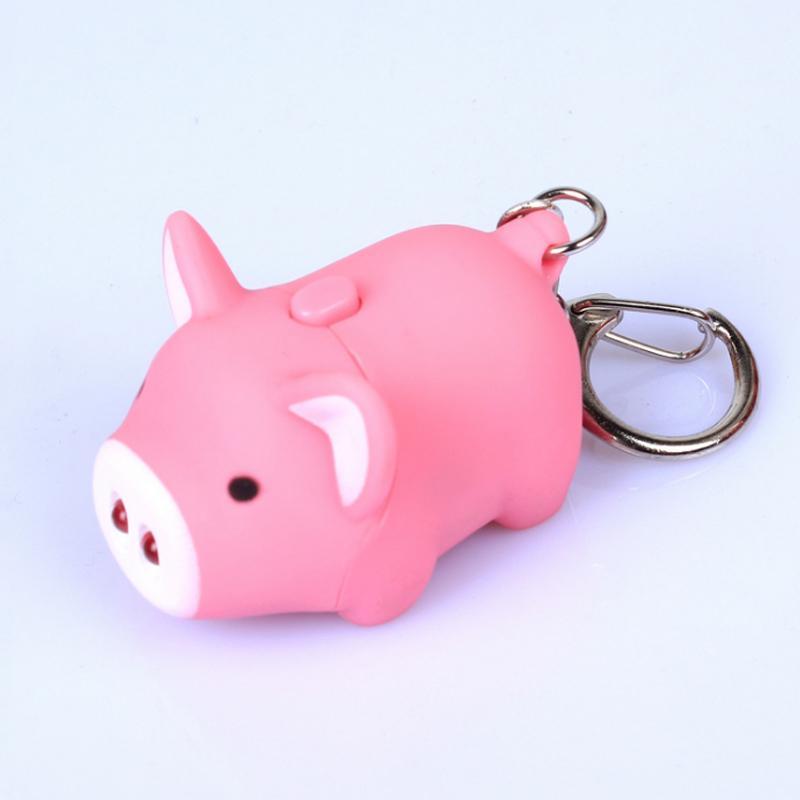 Unisex Piggy Keychain Pig Key Ring Ornaments Birthday Gifts Portable Pendant