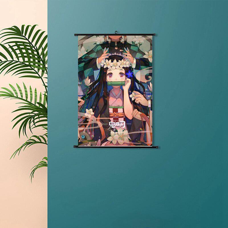 Demon Slayer Kimetsu no Yaiba HD Canvas Print Wall Poster Scroll Room Decor