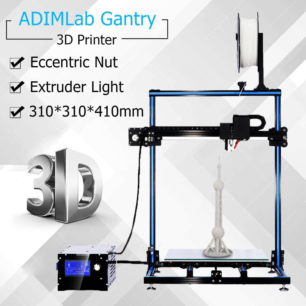 ADIMLab Gantry 3D Printer DIY Kit 310*310*410mm 3'' LCD Screen Extruder w/  Light