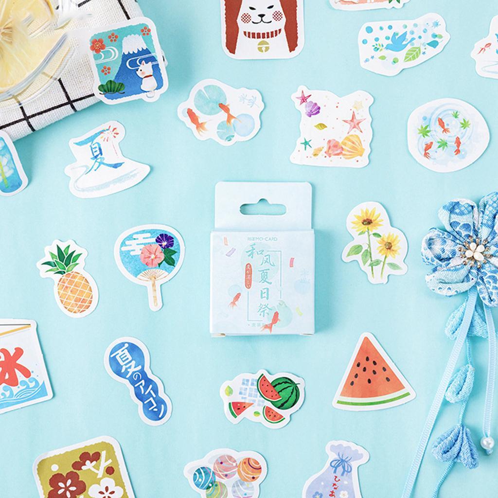 46pcs//box Ice Cream Stickers Sealing Diary Label Travel Sticker DIY Scrapbooking