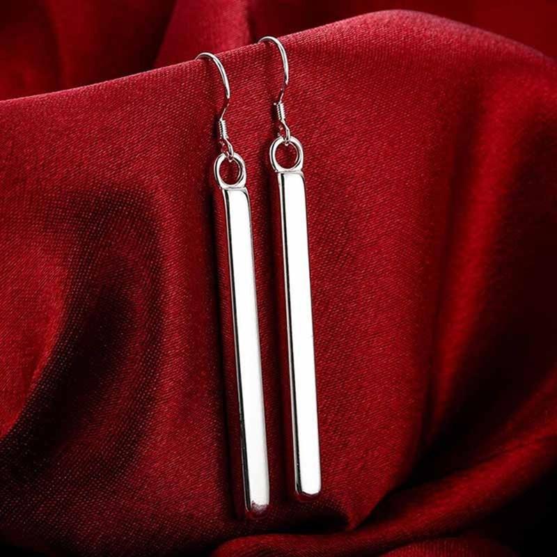 Мода Серьги длинные прямые формы для женщин простой стиль Temperamrnt геометрии ювелирные подарки фото