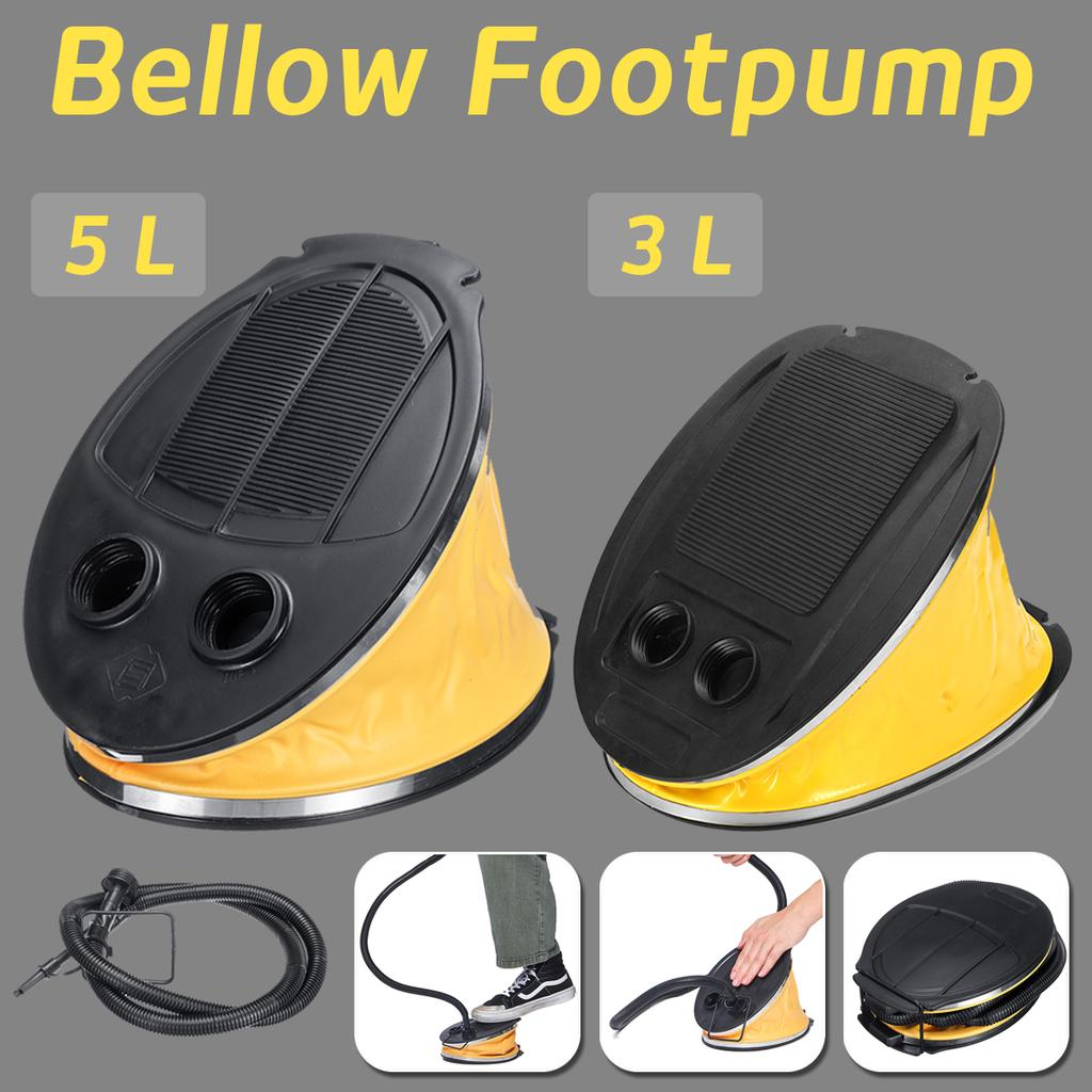 NEW AIR STEP FOOT PUMP INFLATES DEFLATE 5 LITRE BELLOW FOR AIR BED POOL BOAT TO