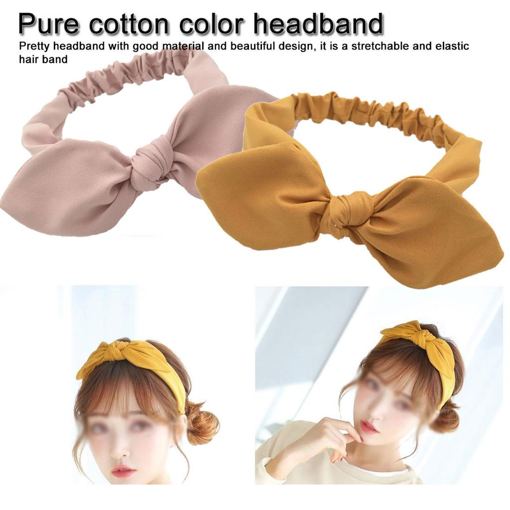 Knot Wide Headbands for Women Bow Stripes Knotted Hair Hoop Rabbit EarsHairband Headband Hair Accessories