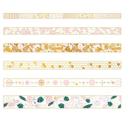 Newest Pink Foil Paper Washi Tape Kawaii Stationery Scrapbooking Decorative Tape