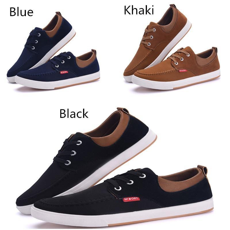 Mode Pour Hommes Chaussures De Sport Chaussures Basses En Toile Appartements (eur39, Kaki)