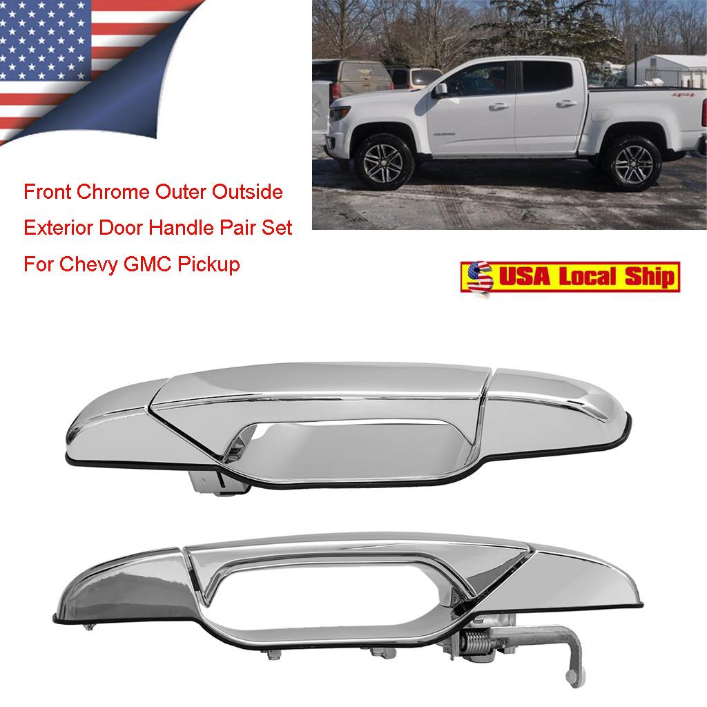 Rear Chrome Outside Exterior Door Handle Driver Left LH for Silverado Sierra