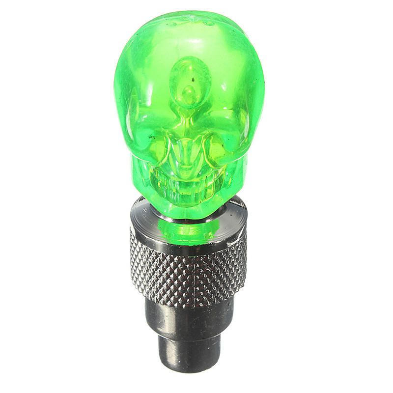SKULLY CLIP-ON SAFETY LED GREEN BLUE RED WHITE FRONT REAR LIGHT NEW