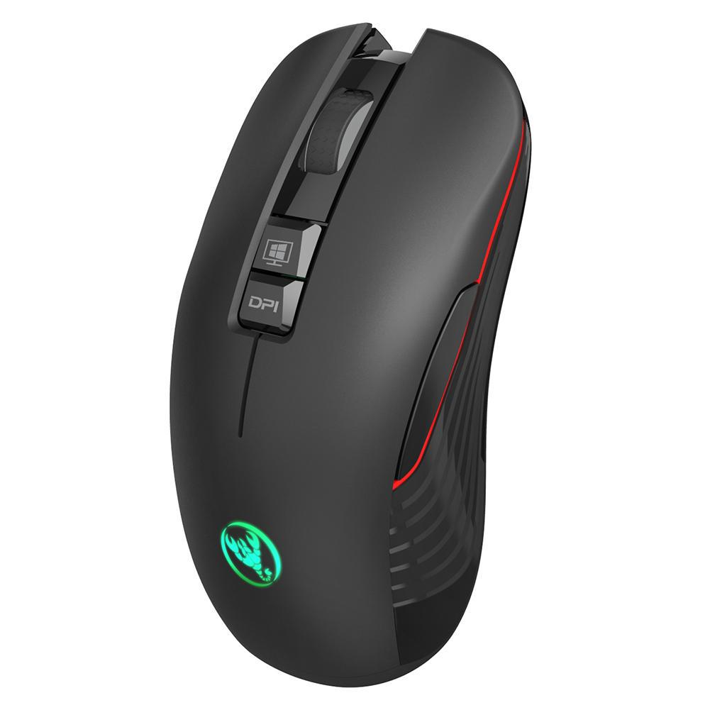 Up to 3600Dpi Using 750 Mah Large Capacity Battery Rechargeable Design Game Wireless Mouse,Using High-End 2.4G Wireless IC Factory Default 1600Dpi