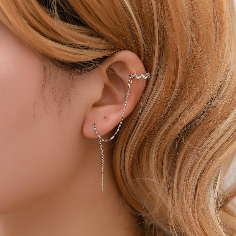 Statement Ear Clip Delicate Earrings Unique Clip Party Ear Clip Women Jewelry Chic Earrings Punk Earrings Ear Clip,Shinning Ear Clip