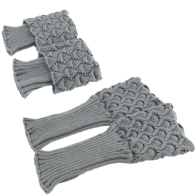 Niñas Crochet invierno arranque puños Shell Toppers punto arranque ...