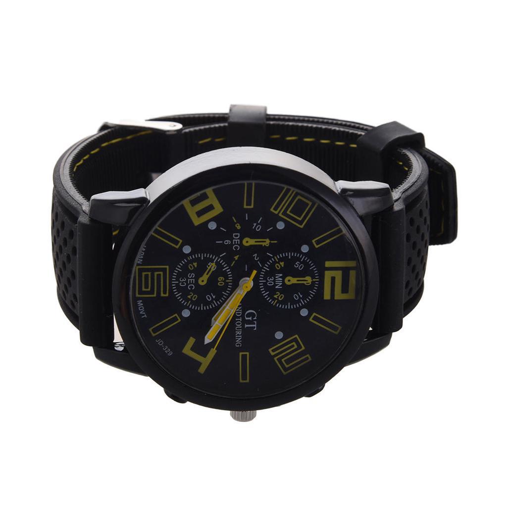 9ac669f2c7bf Grand Touring Casual silicona acero inoxidable reloj de pulsera ...