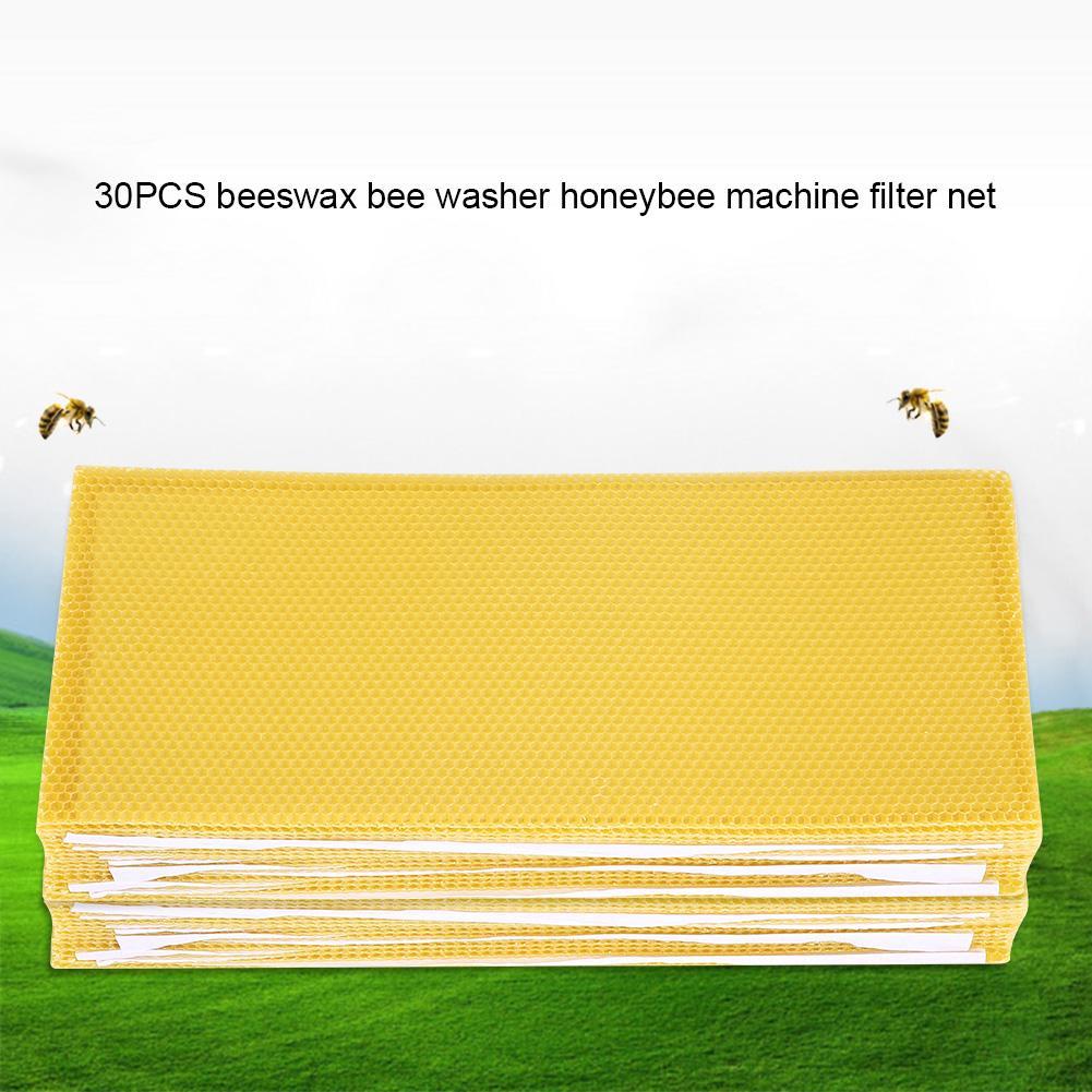 30 Pack Honeycomb Bee Wax Foundation Beekeeping Equipment Bee Honey Sheets Tool