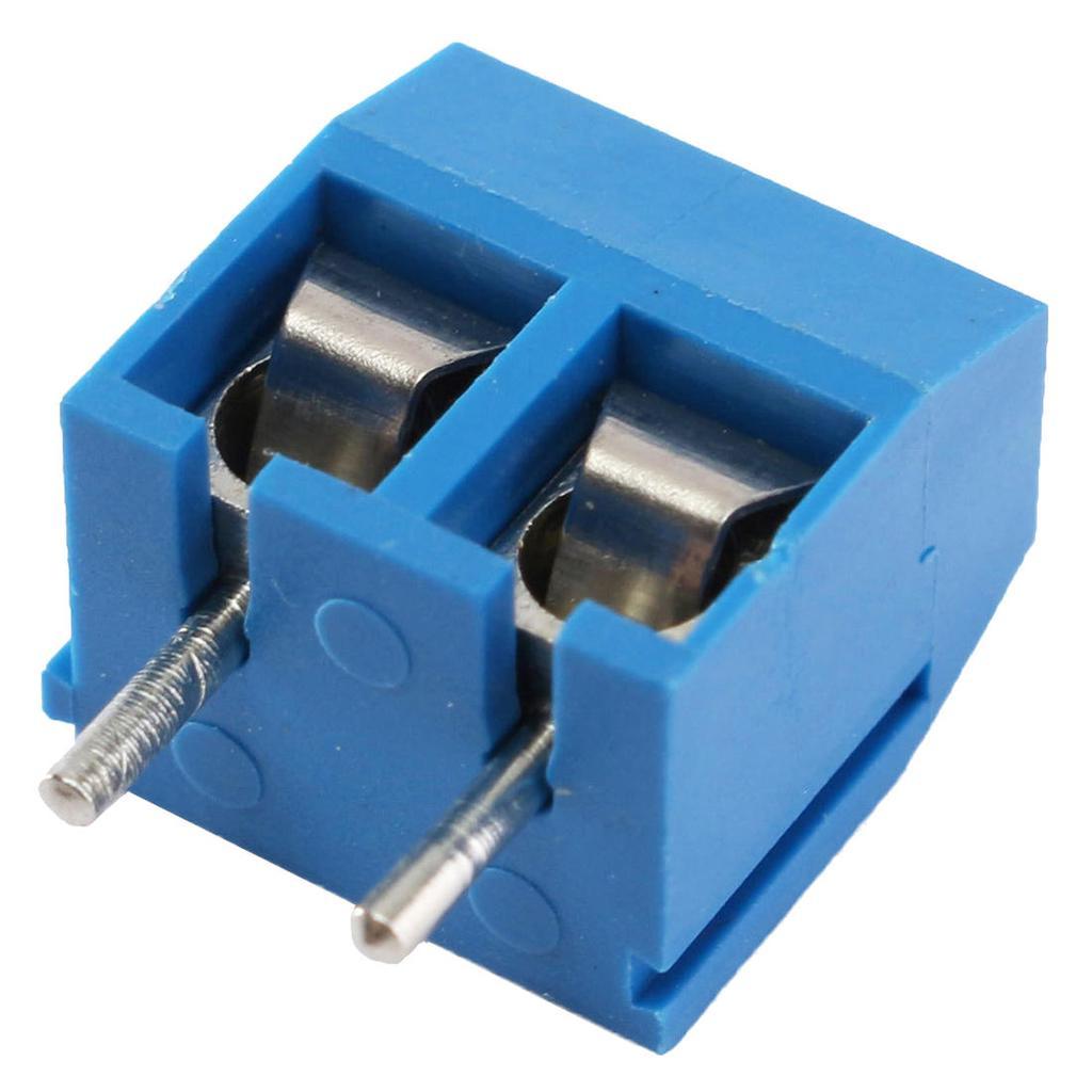 10Pcs blue 2-pin pitch screw terminal block connector 5.08mm panel pcb mount LL