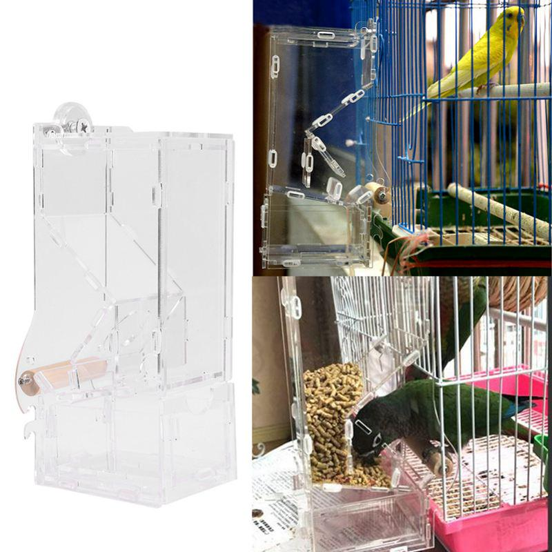 6d3d4e992 Automatic Bird Feeder Pet Bird Cage Feeder Food Container Feeding Parrot  Automatic Feeders-buy at a low prices on Joom e-commerce platform