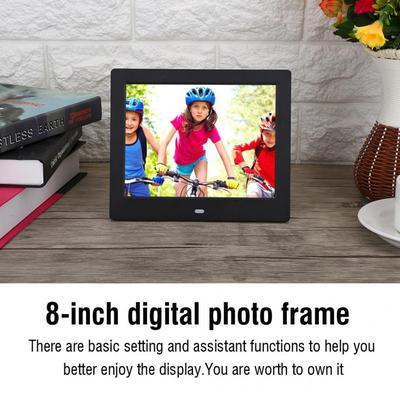 Color : White Digital Picture Frames 12 inches LCD Display Multi-Media Digital Photo Frame with Holder//Music//Movie Player Multiple Functions