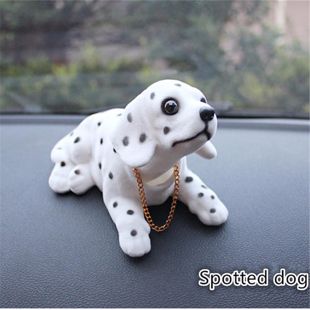 Car Style Cute Dog Doll Shaking Head Nodding Dog For Car Bedroom Decor Ornament