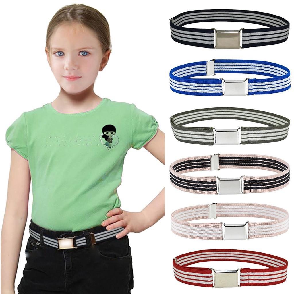 Girls Kids Boys Waistband Children Belts Buckle Waist Strap Adjustable SK