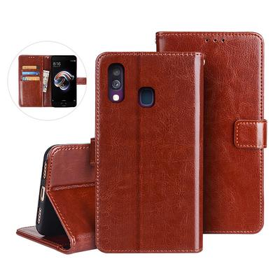 Luxury Flip PU Leather Wallet Case Cover iPhone Samsung Huawei Honor Xiaomi RedMi Sony Case
