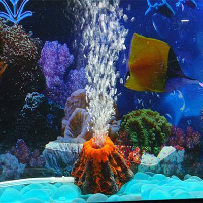 Volcano Aquarium Ornament Fish Tank