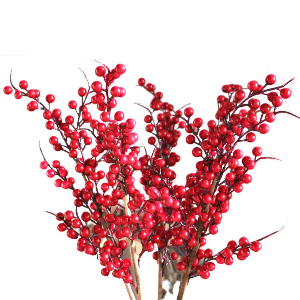 Artificial Red Berry Picks Faux Berry Spray Branches Christmas Home Twigs Buy At A Low Prices On Joom E Commerce Platform
