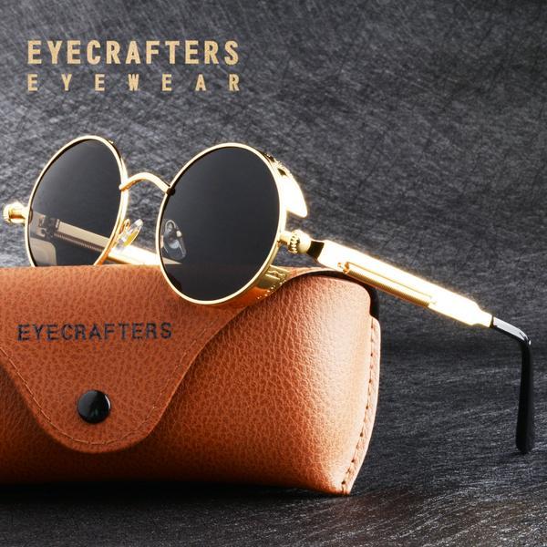 Retro Vintage redondos óculos de sol polarizados para Mens Womens moda Steampunk gótico óculos de sol – comprar a preços baixos na loja virtual do Joom
