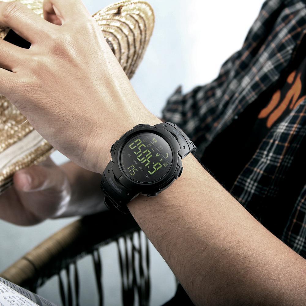 SKMEI Мужские 5ATM Водонепроницаемый спорт Фитнес Трекер Смарт-часы BT Шагомер – купить по низким ценам в интернет-магазине Joom
