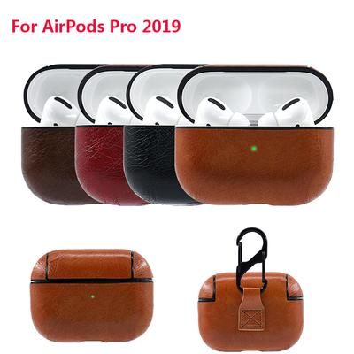 Protective Leather Case For Airpods Pro With Hook Leather Sleeve
