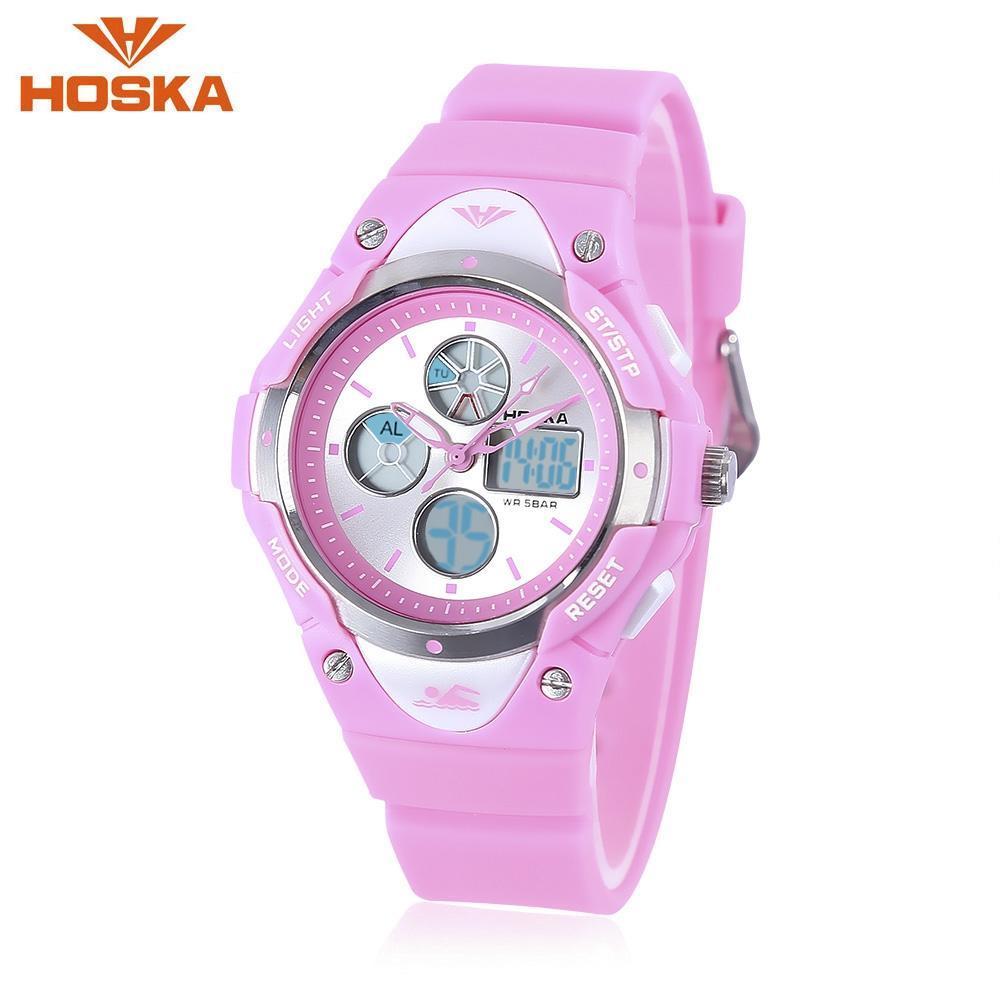 01cdc2bba9c1 HOSKA HD024S doble Movt niños cuarzo reloj Digital luminoso día alarma  pantalla 5ATM reloj de pulsera - comprar a precios bajos en la tienda en  línea Joom