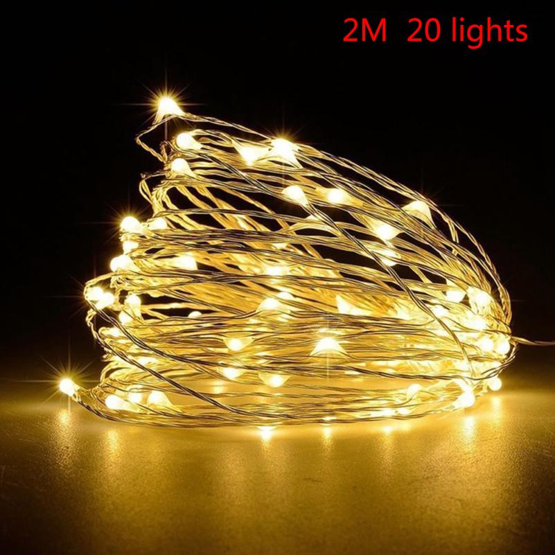 30//40//50//100 LED String Copper Wire Fairy Lights Battery Powed Xmas Party Decor