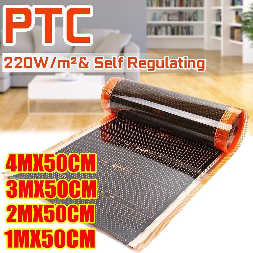 Infrared Heating Film 220v Electric Warm Floor System 50cm Width 220w//m2 Heating