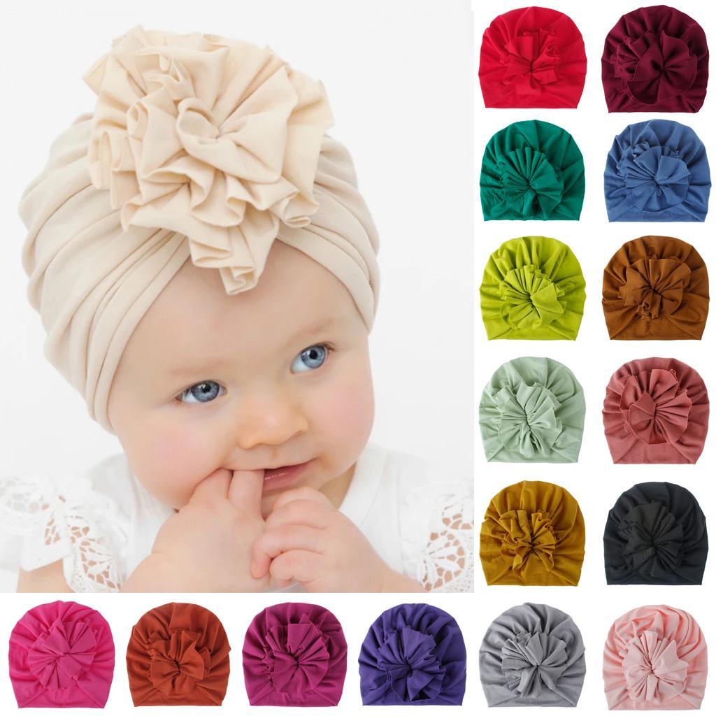 Kids Girls Knot Print Beanie Cap Hair Care Turban Muslim Hijab Headwrap 1-6 Year
