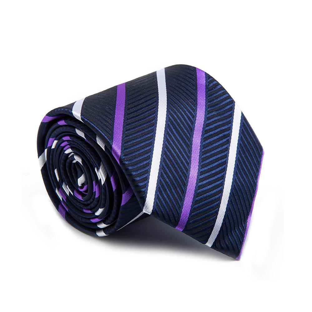 Men/'s Hand Made Easy To Pull Zipper Lazy Necktie Tie Dot Polka Striped Block