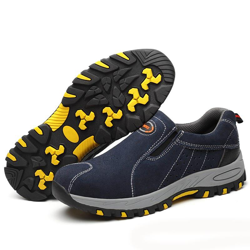 Work Shoes Breathable Steel Toe Slip