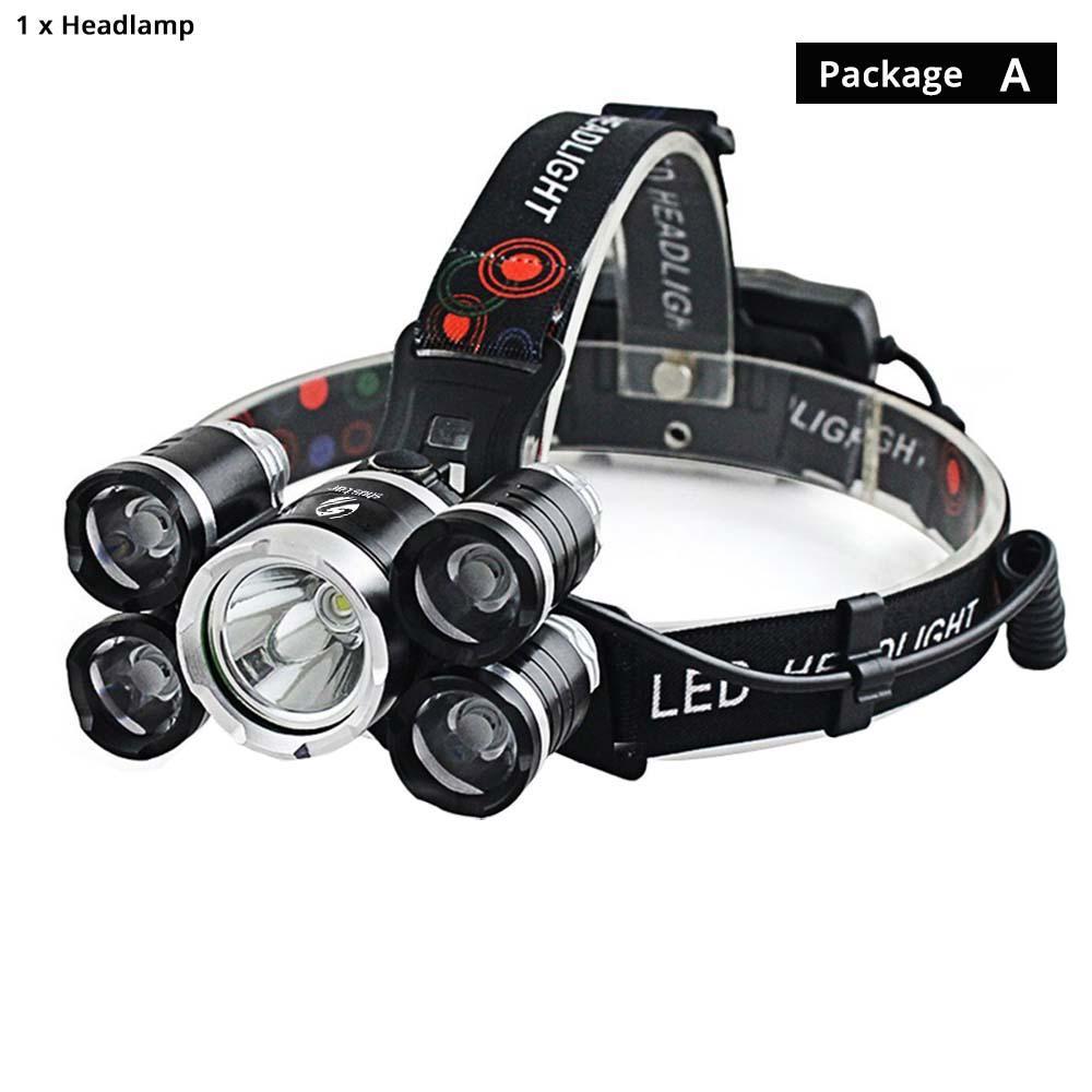 CAMTOA 50000LM 18650 Headlamp Headlight Flashlight Head Torch Light