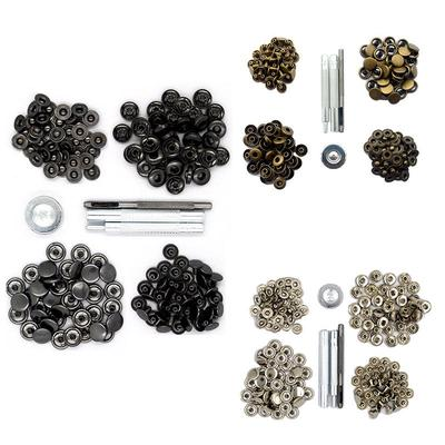 Copper Press Studs Snap Fasteners Clothing Snaps Button 40 pcs With Fixing  Tool 12 5mm